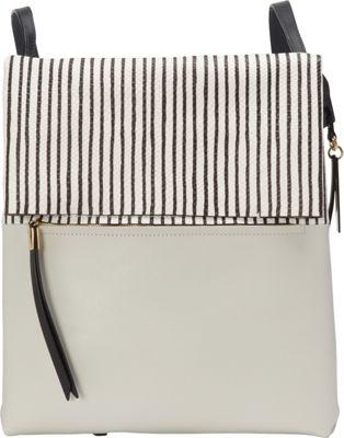 Vince Camuto Tyler Handbag Backpack Pale Gray/Black Stripe - Vince Camuto Designer Handbags