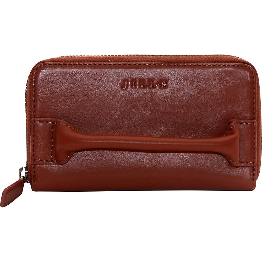 Jill e Designs Calhoun Leather Smartphone Clutch Saddle Jill e Designs Women s Wallets