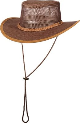 Stetson Mesh Covered Safari Cap L - Beaver - Small - Stetson Hats/Gloves/Scarves