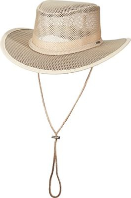 Stetson Mesh Covered Safari Cap M - Clay - Small - Stetson Hats/Gloves/Scarves
