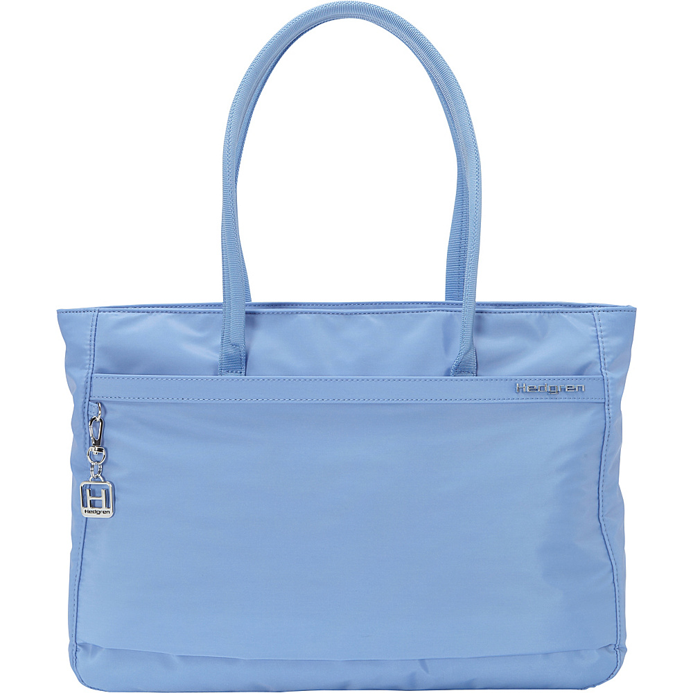 Hedgren Leah Tote Provence Blue Hedgren Fabric Handbags