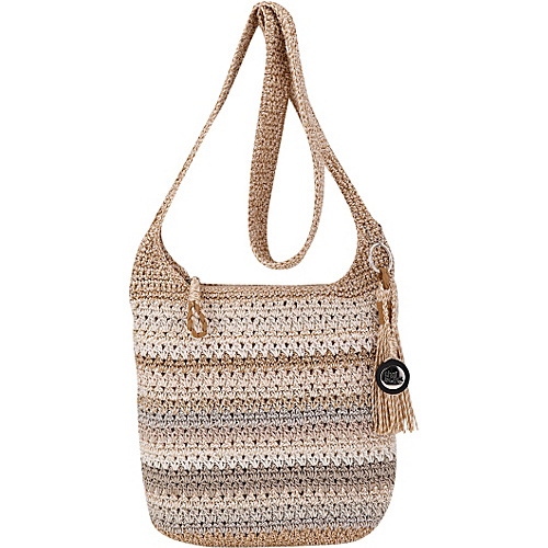 The Sak Casual Classics Crossbody Sand Stripe - The Sak Fabric Handbags