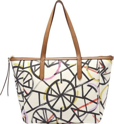 Fossil Sydney Shopper Neutral Multi - Fossil Manmade Handbags