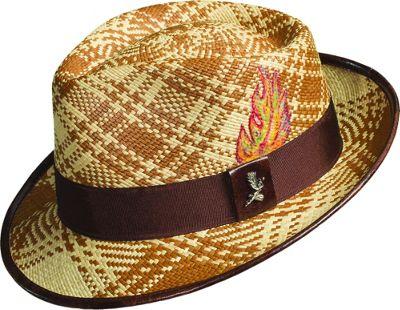 Carlos Santana Hats Fenix Panama Fedora L - Brown - Large - Carlos Santana Hats Hats/Gloves/Scarves