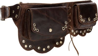 Vicenzo Leather Nieve Chic Genuine Leather Fanny Pack/ Waist Pack Brown - Vicenzo Leather Waist Packs