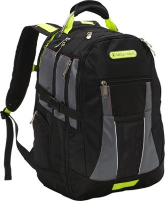 Swiss Cargo SCX22 19 inch Backpack Black Grey - Swiss Cargo Business & Laptop Backpacks