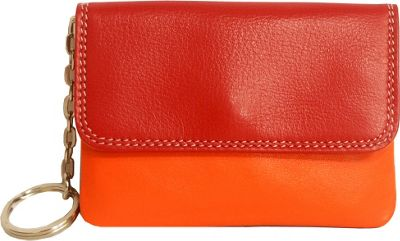 BelArno BelArno Flap Coin Purse Red Combination - BelArno Women's Wallets