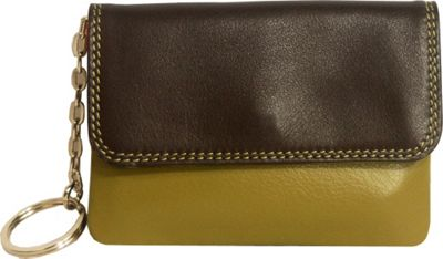 BelArno BelArno Flap Coin Purse Brown Combination - BelArno Women's Wallets