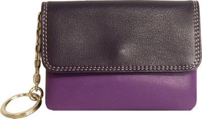BelArno BelArno Flap Coin Purse Purple Combination - BelArno Women's Wallets