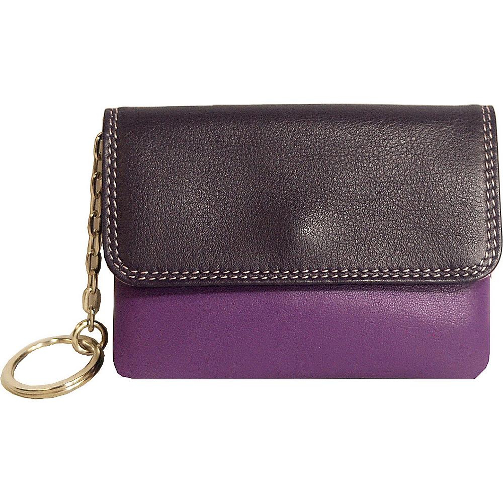 BelArno Flap Coin Purse Purple Combination - BelArno Women's Wallets