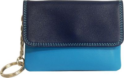 BelArno Flap Coin Purse Blue Combination - BelArno Women's Wallets
