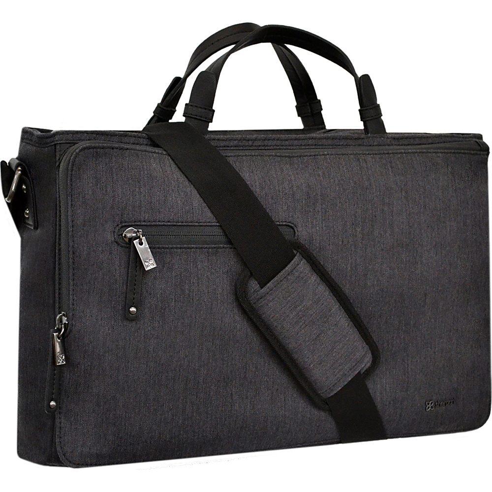 Sherpani Large Commuter Messenger Heathered Black Sherpani Messenger Bags