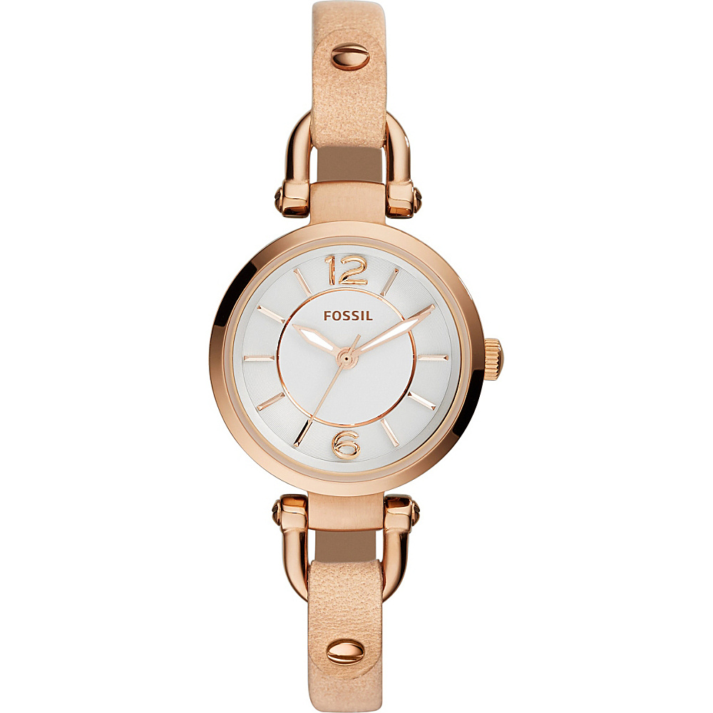 Fossil Georgia Three-Hand Leather Watch Beige - Fossil Watches - Fashion Accessories, Watches