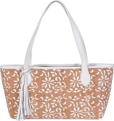 BUCO Small Cork Tote White - BUCO Straw Handbags