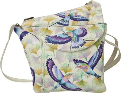 Image of Anuschka Asymmetric Slim Crossbody Wings of Hope - Anuschka Leather Handbags