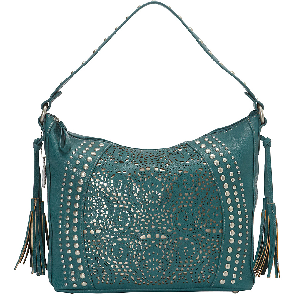 Bandana Mesa Collection Slouch Hobo Shoulder Bag TURQUOISE / GOLD - Bandana Manmade Handbags