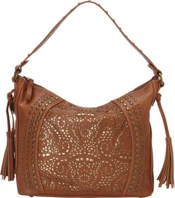 Image of American West - Mesa Slouch Hobo Shoulder Bag (Tan/Gold) Shoulder Handbags
