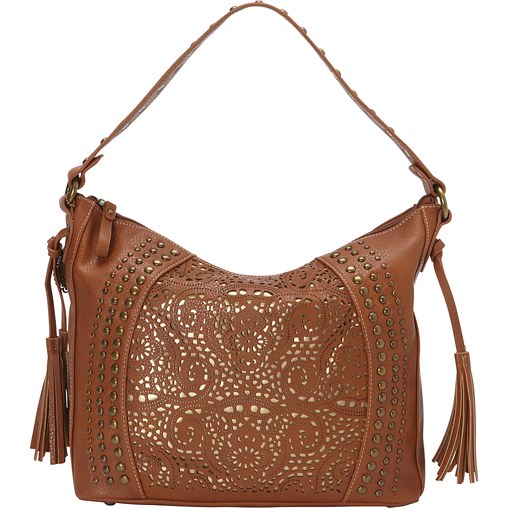 Bandana Mesa Collection Slouch Hobo Shoulder Bag TAN GOLD Bandana Manmade Handbags