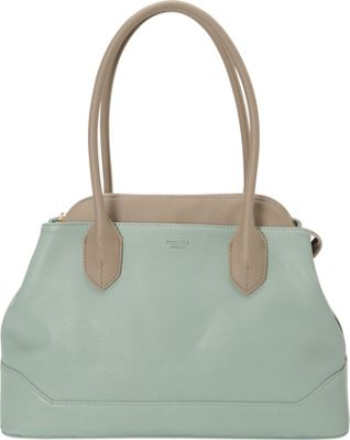 Perlina Tatiana Large Satchel Bottle Green - Perlina Leather Handbags