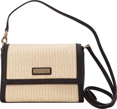 kate spade new york Cedar Street Straw Magnolia Crossbody Natural/Black - kate spade new york Designer Handbags