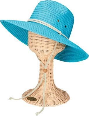 San Diego Hat Sunbrim Hat with Rope Chin Cord Turquoise - San Diego Hat Hats