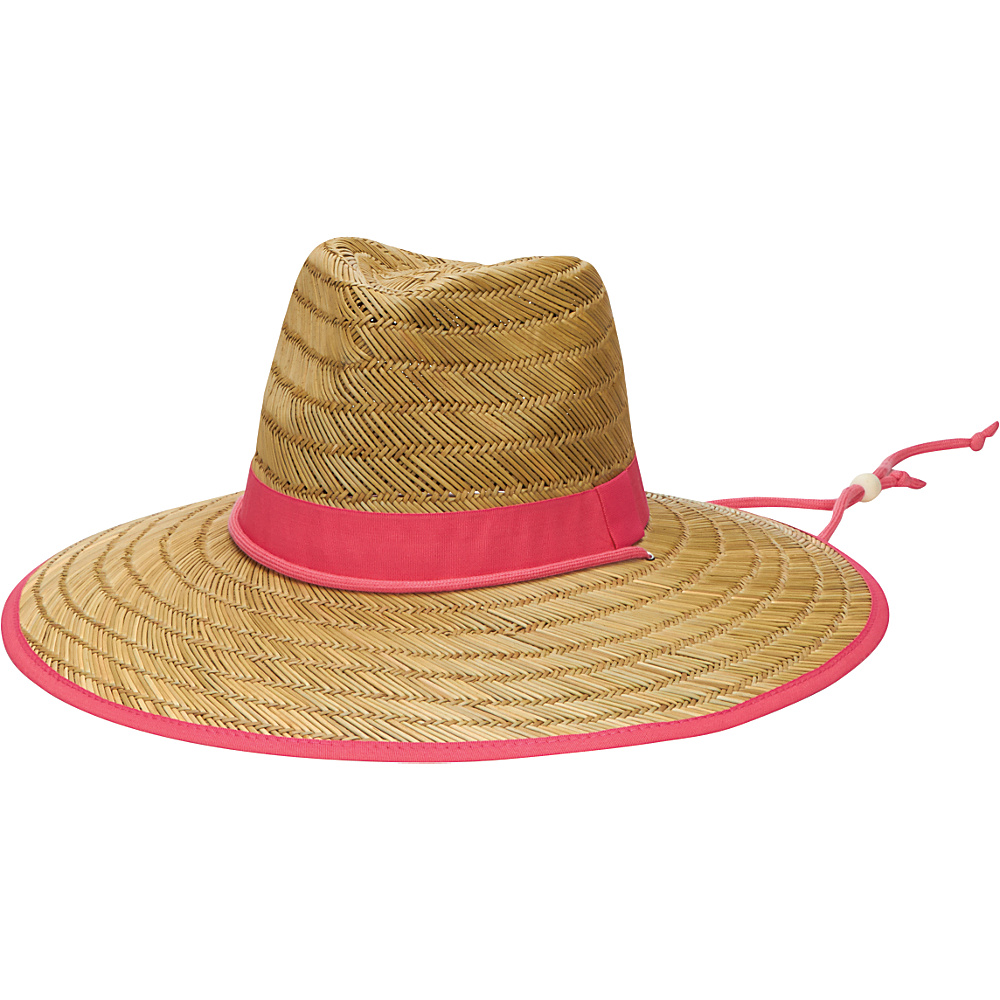 San Diego Hat Rush Straw Lifeguard Hat with Band and Chin Cord Hot Pink San Diego Hat Hats Gloves Scarves