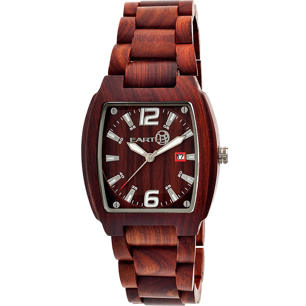 Earth Wood Sagano Watch Red Rosewood Earth Wood Watches