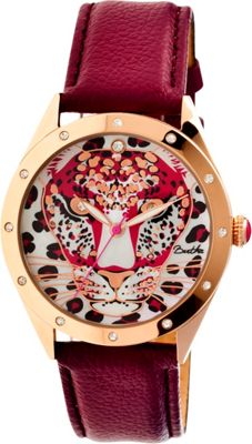 Image of Bertha Watches Alexandra Leather Watch Burgundy - Bertha Watches Watches