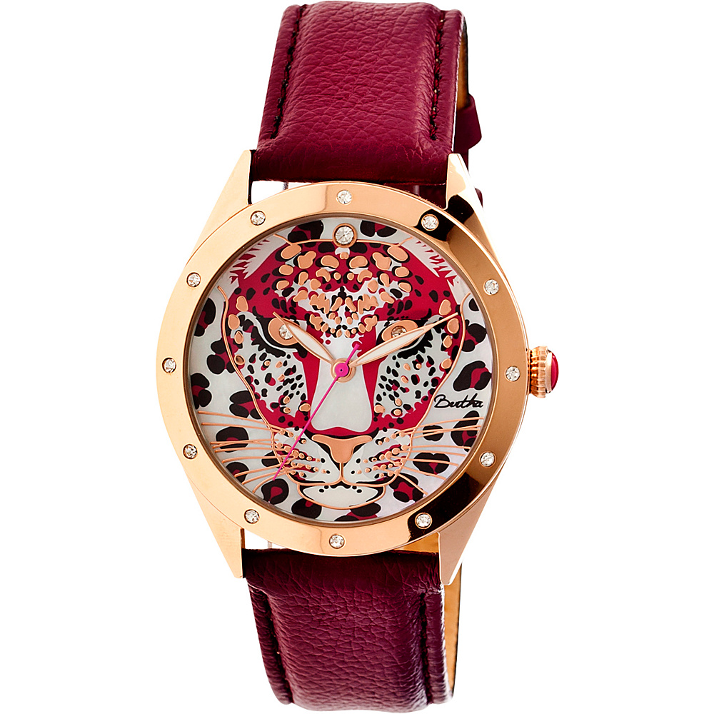 Bertha Watches Alexandra Leather Watch Burgundy Bertha Watches Watches