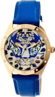 Image of Bertha Watches Alexandra Leather Watch Blue - Bertha Watches Watches