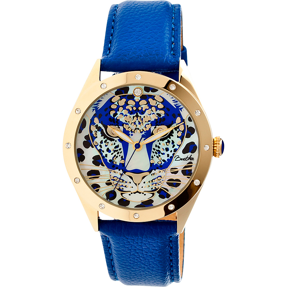 Bertha Watches Alexandra Leather Watch Blue Bertha Watches Watches