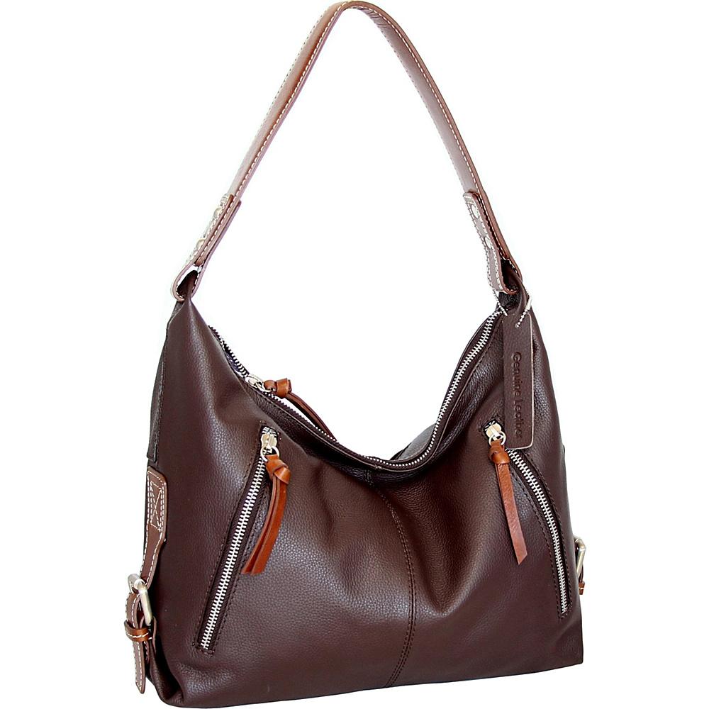 Nino Bossi Helena Hobo Chocolate - Nino Bossi Leather Handbags - Handbags, Leather Handbags