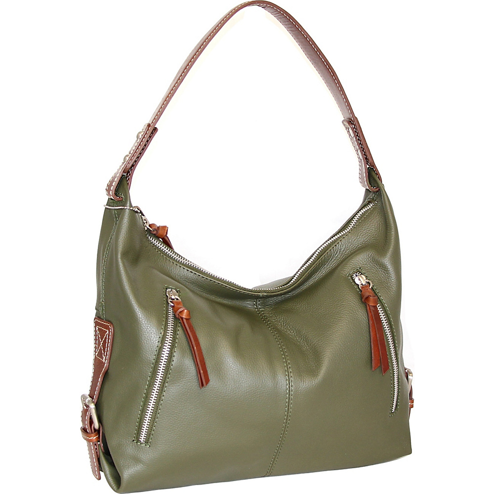 Nino Bossi Helena Hobo Green - Nino Bossi Leather Handbags - Handbags, Leather Handbags
