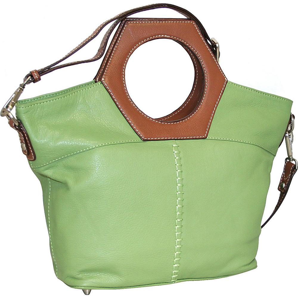 Nino Bossi Cut it Out Satchel Leaf - Nino Bossi Leather Handbags