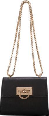 SW Global Clora Chain Handle Shoulder Bag Black - SW Global Manmade Handbags