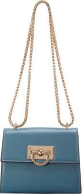 SW Global Clora Chain Handle Shoulder Bag Blue - SW Global Manmade Handbags