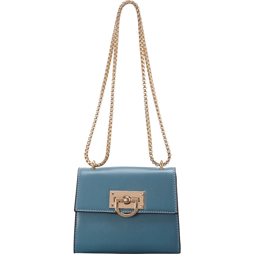 SW Global Clora Chain Handle Shoulder Bag Blue - SW Global Manmade Handbags - Handbags, Manmade Handbags