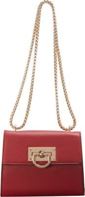 SW Global Clora Chain Handle Shoulder Bag Red - SW Global Manmade Handbags