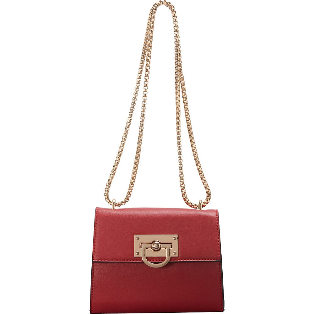 SW Global Clora Chain Handle Shoulder Bag Red - SW Global Manmade Handbags - Handbags, Manmade Handbags