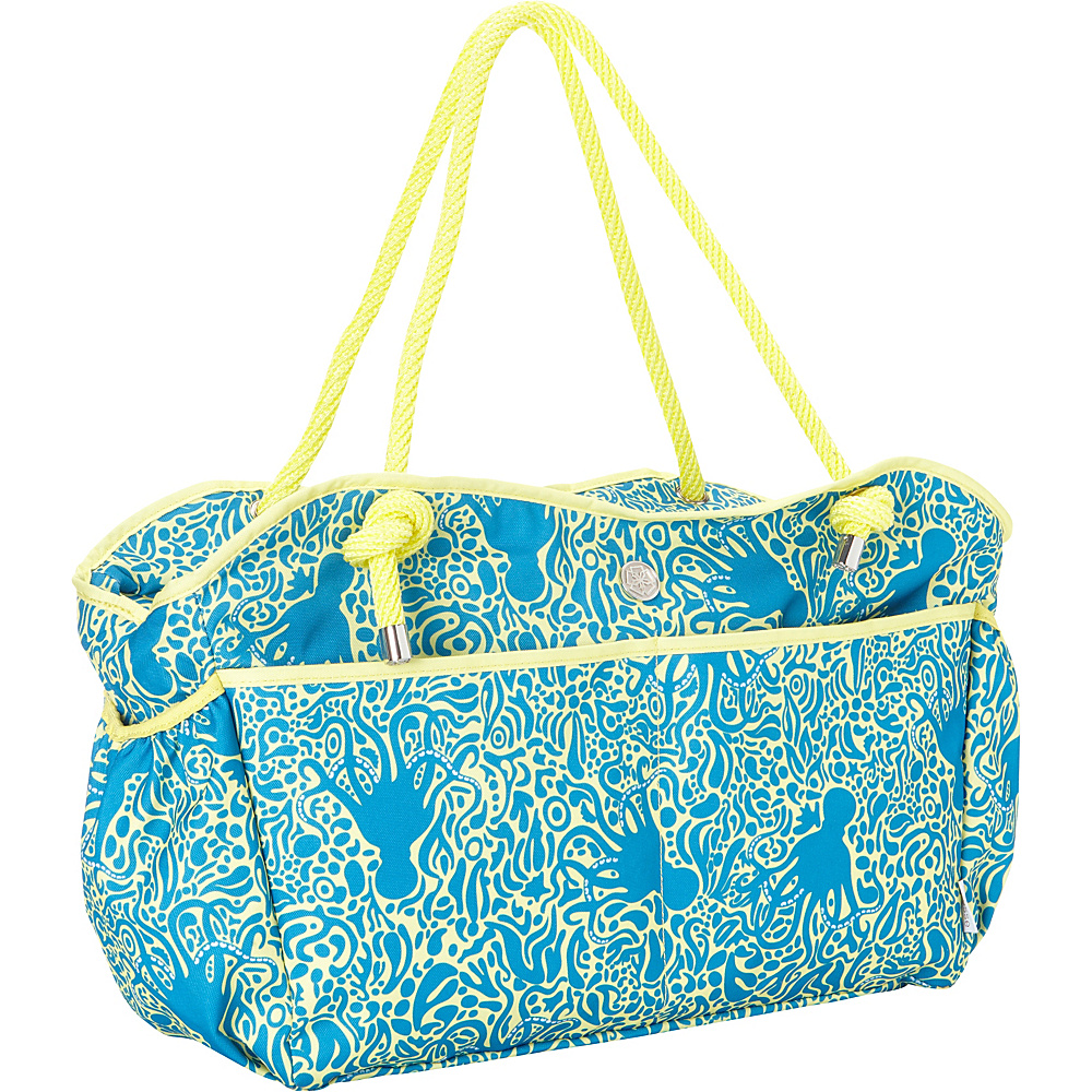 Fivesse Beach Tote Octopus Blue - Fivesse Fabric Handbags