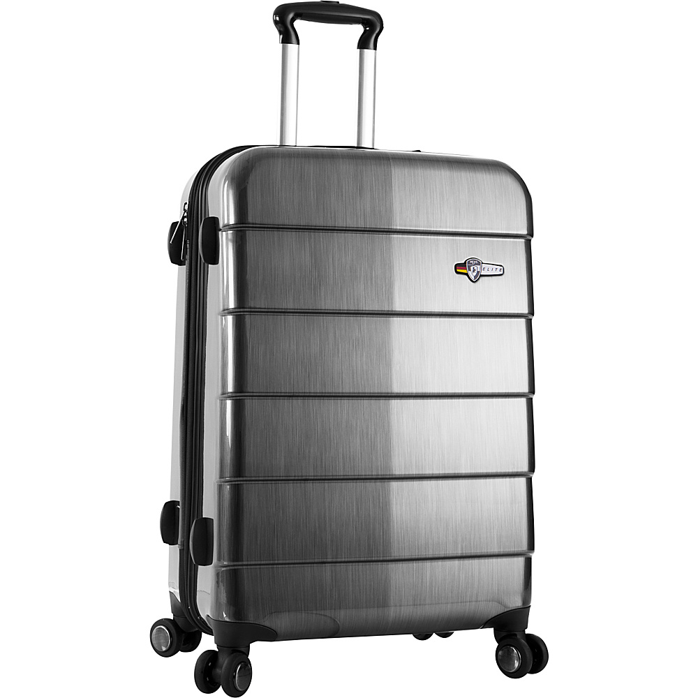 Heys America Cronos ELITE 26 Upright Luggage Silver Heys America Hardside Checked