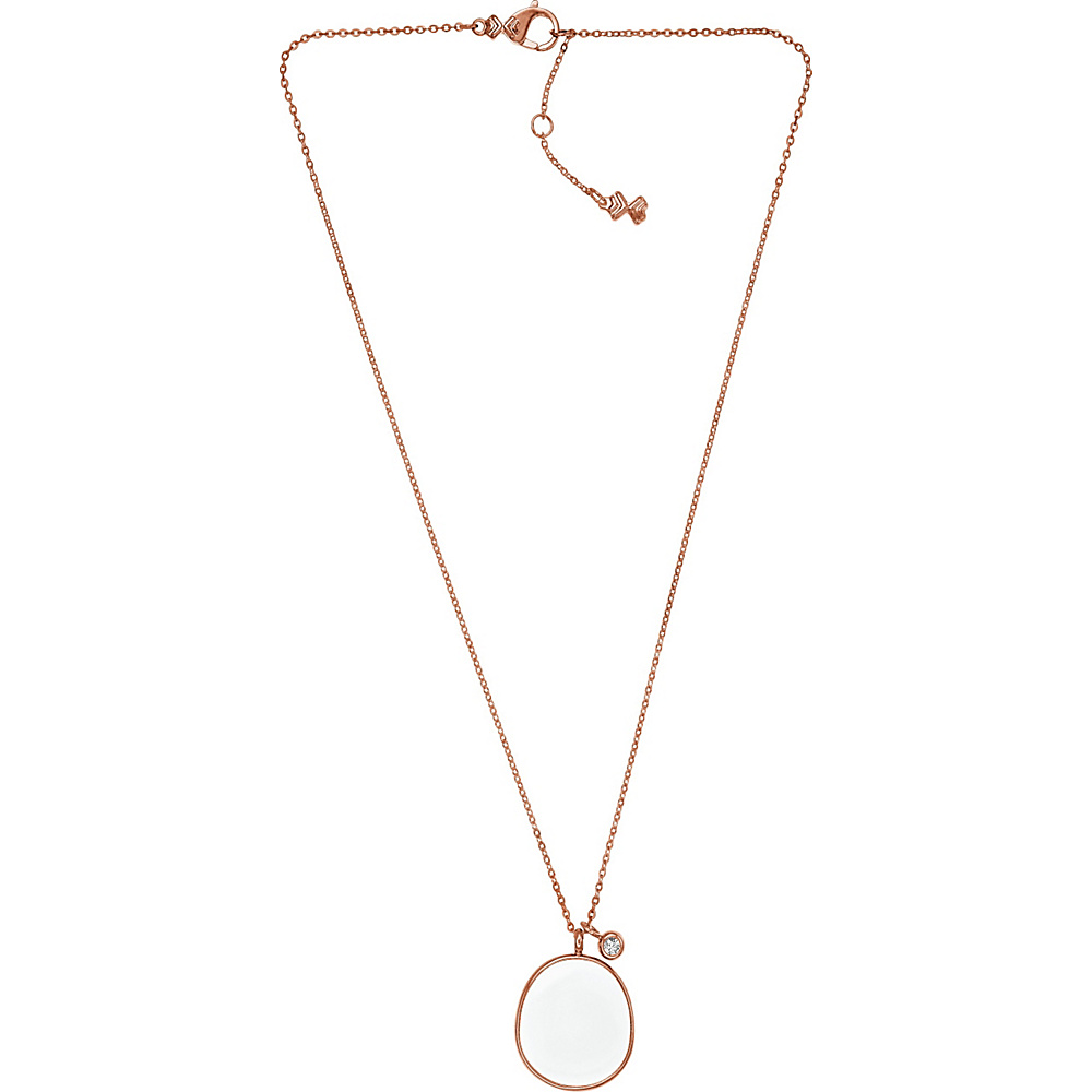 Skagen White Sea Glass Pendant Necklace Rose Gold Skagen Other Fashion Accessories