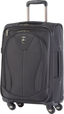 Atlantic Ultra Lite 3 21 inch Expandable Carry On Spinner Black - Atlantic Softside Carry-On