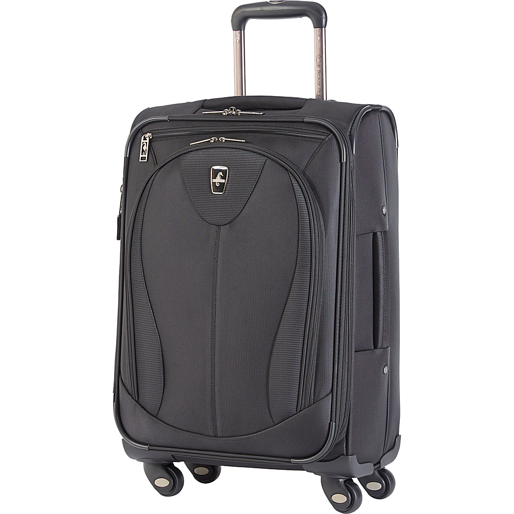 "Atlantic Ultra Lite 3 21"" Expandable Carry On Spinner Black - Atlantic Softside Carry-On"