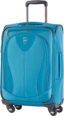 Atlantic Ultra Lite 3 21 inch Expandable Carry On Spinner Turquoise - Atlantic Softside Carry-On