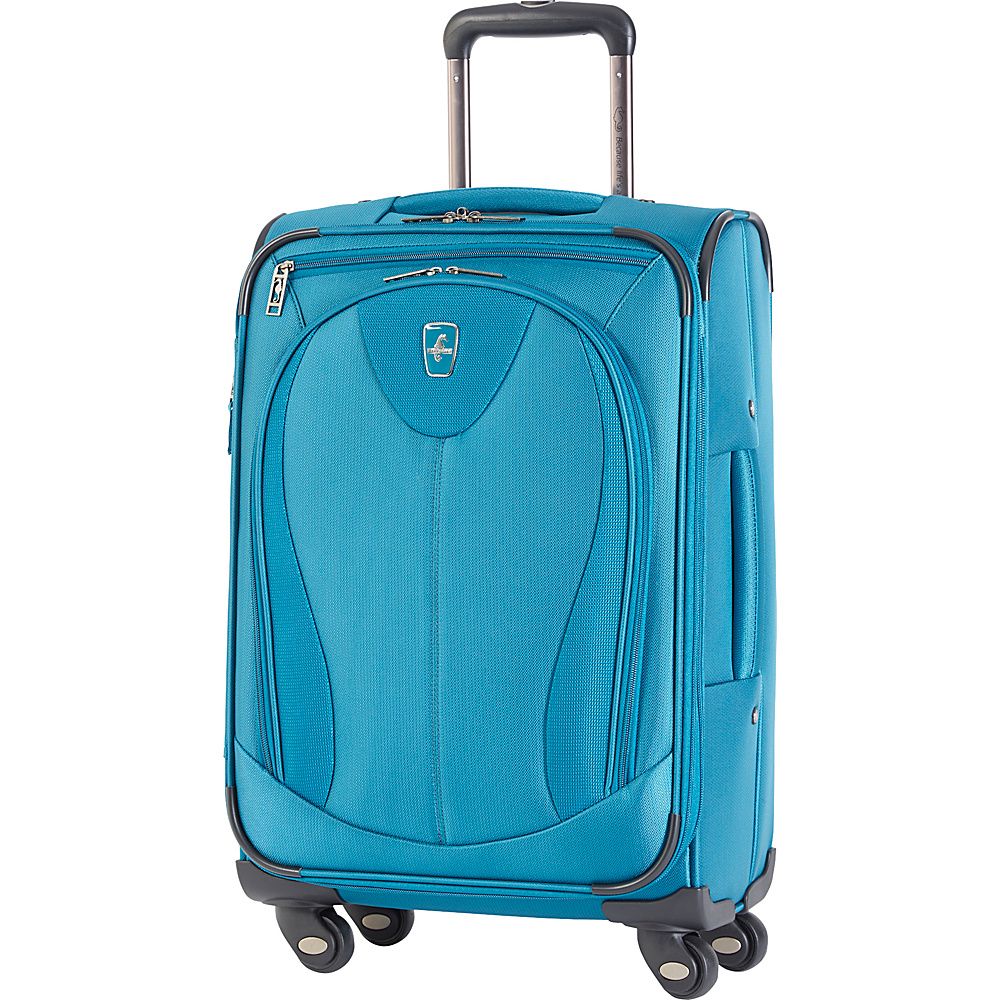 "Atlantic Ultra Lite 3 21"" Expandable Carry On Spinner Turquoise - Atlantic Softside Carry-On"