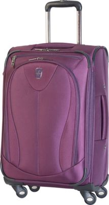 Atlantic Ultra Lite 3 21 inch Expandable Carry On Spinner Purple - Atlantic Softside Carry-On