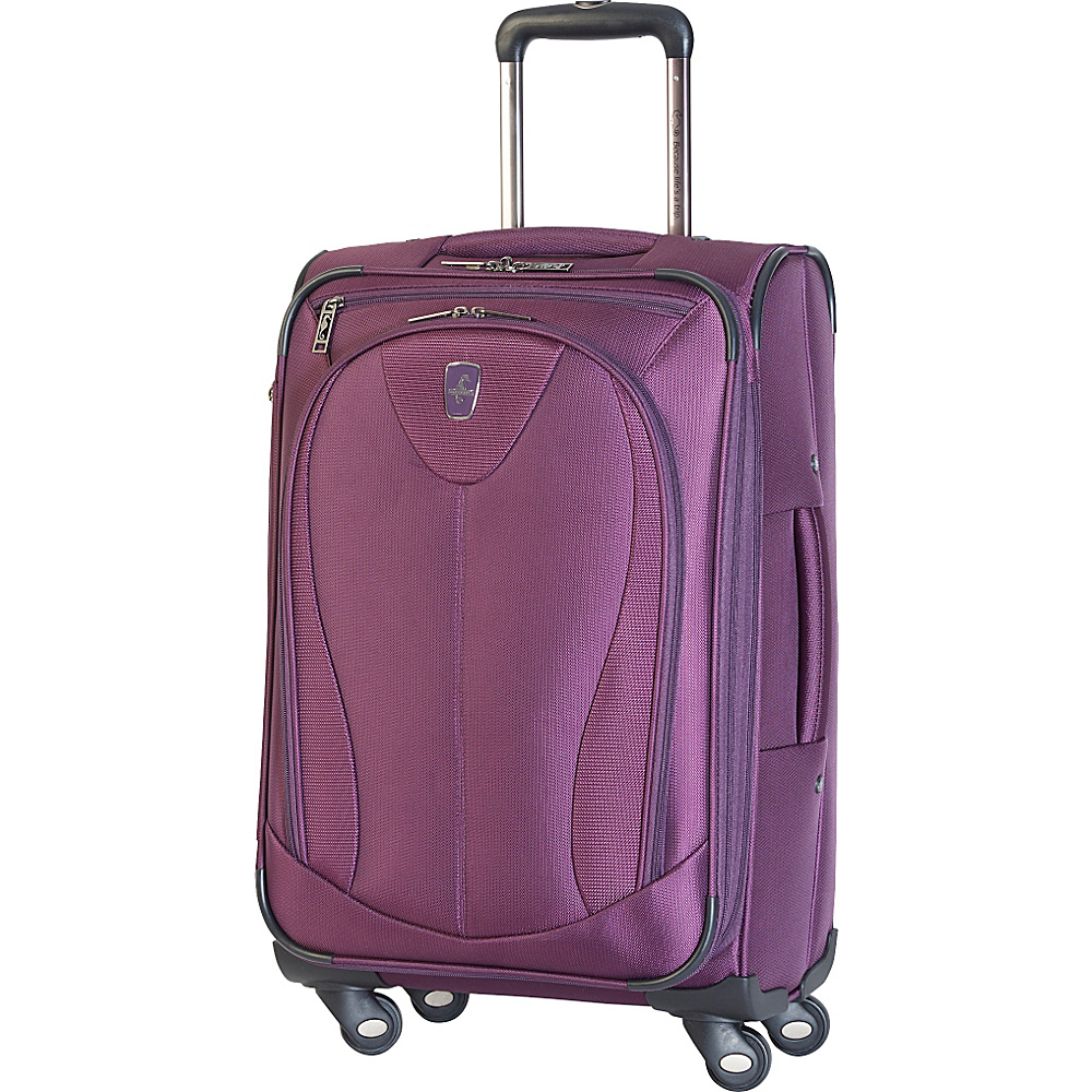 "Atlantic Ultra Lite 3 21"" Expandable Carry On Spinner Purple - Atlantic Softside Carry-On"