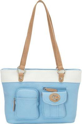 Aurielle-Carryland Bernina 2 Tone Tote Sky - Aurielle-Carryland Manmade Handbags