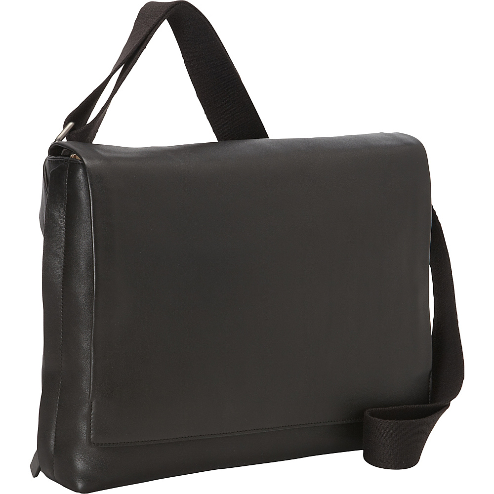 Skagen Eric Leather Messenger Bag Black Skagen Messenger Bags
